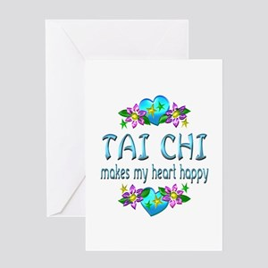 Tai Chi Heart Happy Greeting Card