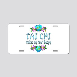 Tai Chi Heart Happy Aluminum License Plate