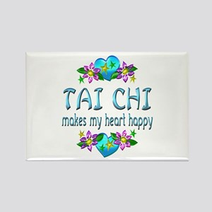 Tai Chi Heart Happy Rectangle Magnet
