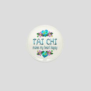 Tai Chi Heart Happy Mini Button