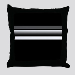 Team Colors2...Black,gray and white Throw Pillow