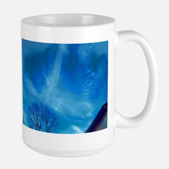 Air Brushed Trails in Sky Mugs