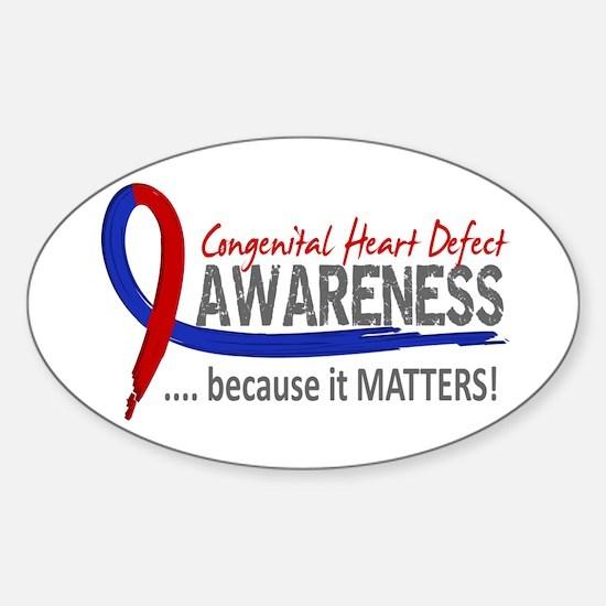 CHD Awareness 2 Sticker (Oval)