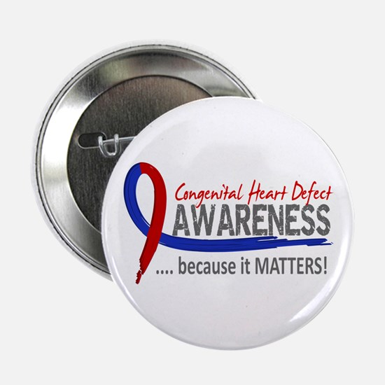 """CHD Awareness 2 2.25"""" Button (10 pack)"""