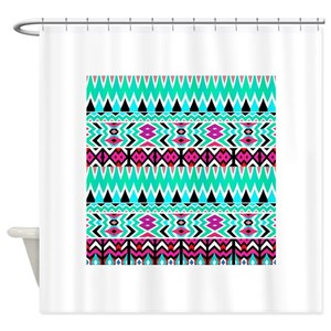 Tribe Pattern Shower Curtains