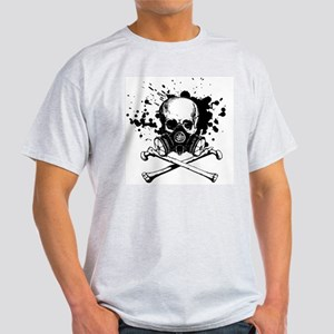 Gas Mask Jolly Roger Black Light T-Shirt