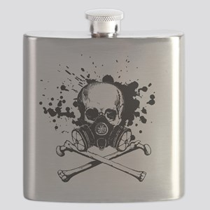 Gas Mask Jolly Roger Black Flask