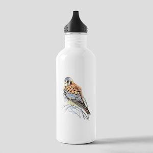 Watercolor Kestrel Falcon Bird art Water Bottle