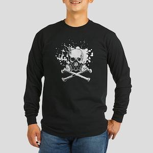 Jolly Roger Gas Mask Whit Long Sleeve Dark T-Shirt