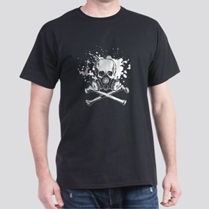 Jolly Roger Gas Mask White Dark T-Shirt