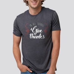 In All Things Give Thanks Mens Tri-blend T-Shirt