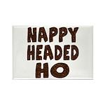 Nappy Headed Ho Hairy Design Rectangle Magnet (100