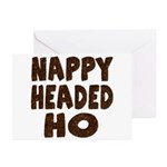 Nappy Headed Ho Hairy Design Greeting Cards (Packa