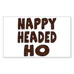 Nappy Headed Ho Hairy Design Rectangle Sticker