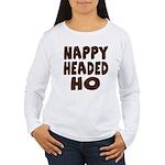 Nappy Headed Ho Hairy Design Women's Long Sleeve T