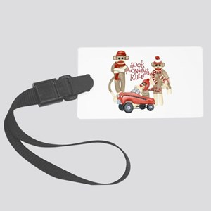 Retro Sock Monkey Pedal Car Monkeys Rule Luggage T
