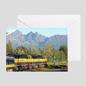 Alaska Railroad locomotive engine &  Greeting Card