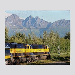 Alaska Railroad locomotive engine &  Throw Blanket