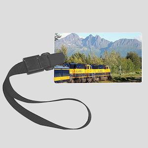 Alaska Railroad locomotive engin Large Luggage Tag