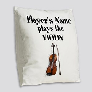 Personalize this Design Burlap Throw Pillow