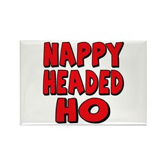 Nappy Headed Ho Red Design Rectangle Magnet (100 p