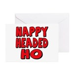 Nappy Headed Ho Red Design Greeting Cards (Package