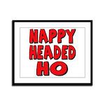 Nappy Headed Ho Red Design Framed Panel Print