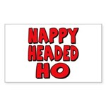 Nappy Headed Ho Red Design Rectangle Sticker