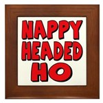 Nappy Headed Ho Red Design Framed Tile