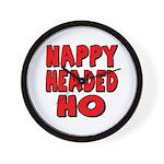 Nappy Headed Ho Red Design Wall Clock