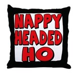 Nappy Headed Ho Red Design Throw Pillow