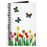 Tulip Flowers and Butterflies Journal