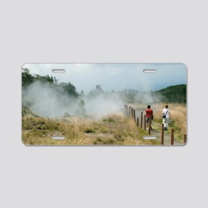 Crater walk Aluminum License Plate