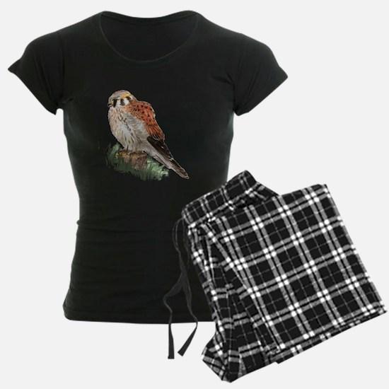 Watercolor Kestrel Falcon Bird Nature Art pajamas