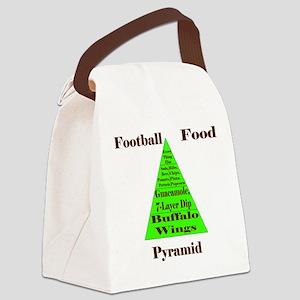 Football Food Pyramid Canvas Lunch Bag