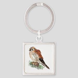 Watercolor Kestrel Falcon Bird Nature Keychains