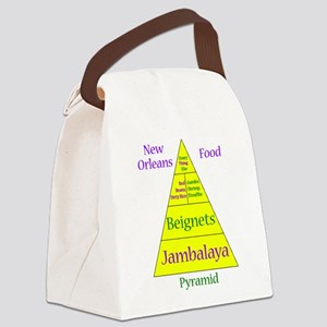 New Orleans Food Pyramid Canvas Lunch Bag
