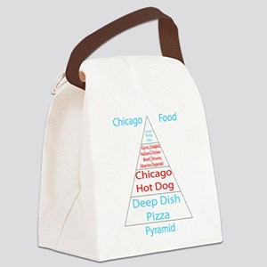 Chicago Food Pyramid Canvas Lunch Bag