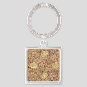 William Morris Rose Square Keychain