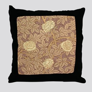 William Morris Rose Throw Pillow