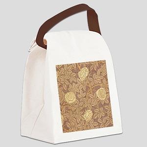 William Morris Rose Canvas Lunch Bag
