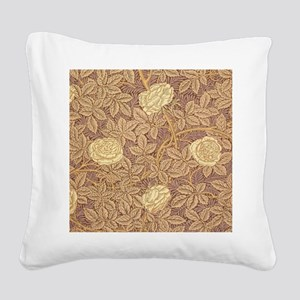 William Morris Rose Square Canvas Pillow