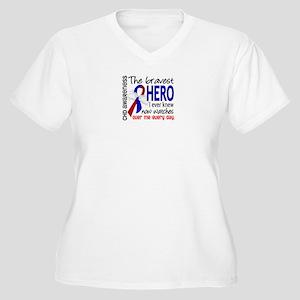 CHD Bravest Hero Women's Plus Size V-Neck T-Shirt
