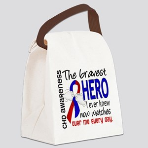 CHD Bravest Hero Canvas Lunch Bag