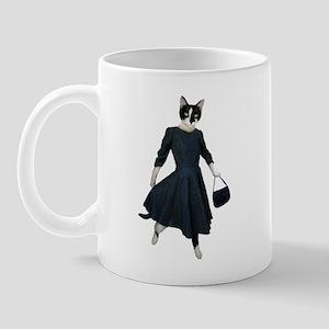 Cat Black Dress Mug
