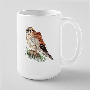 Watercolor Kestrel Falcon Bird Nature Art Mugs