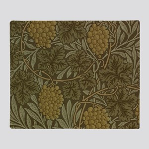 William Morris Vine Throw Blanket