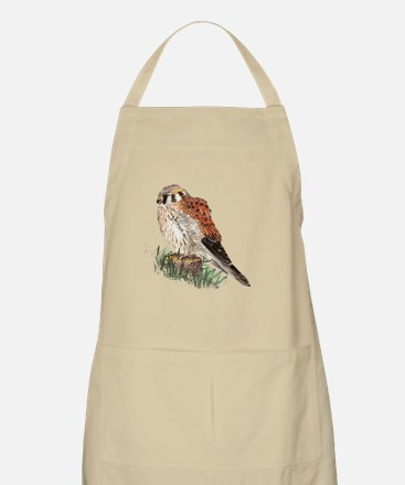 Watercolor Kestrel Falcon Bird Nature Art Apron