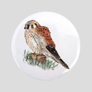 """Watercolor Kestrel Falcon Bird Nature 3.5"""" Bu"""