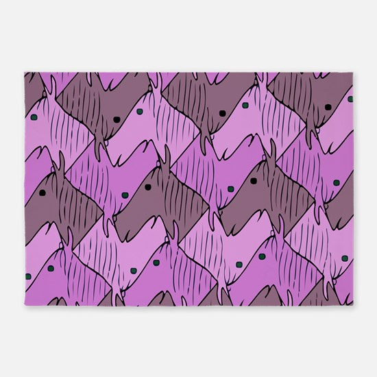 Ponies for a Girl 5'x7'Area Rug